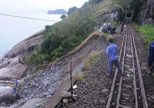 Đường sắt Bắc Nam qua Đèo Cả chưa thông tuyến