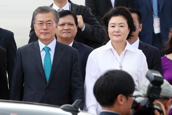 Ông Moon Jae-In và phu nhân Kim Jung-sook