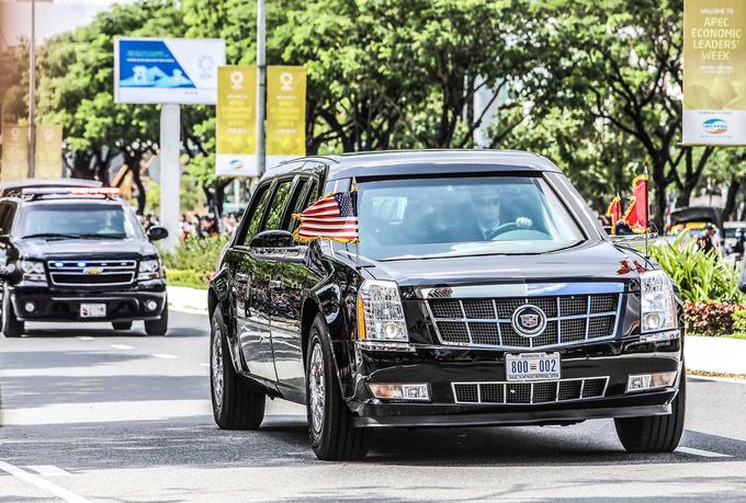 Những cỗ xe bọc thép chở lãnh đạo các nước tại APEC 2017
