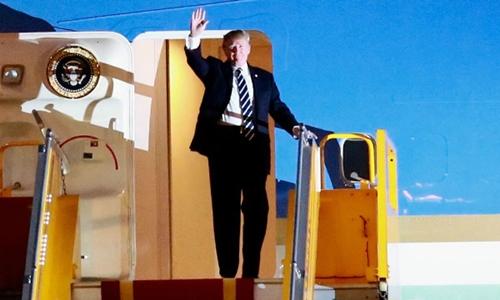 Chủ tịch nước Trần Đại Quang chiêu đãi Tổng thống Donald Trump