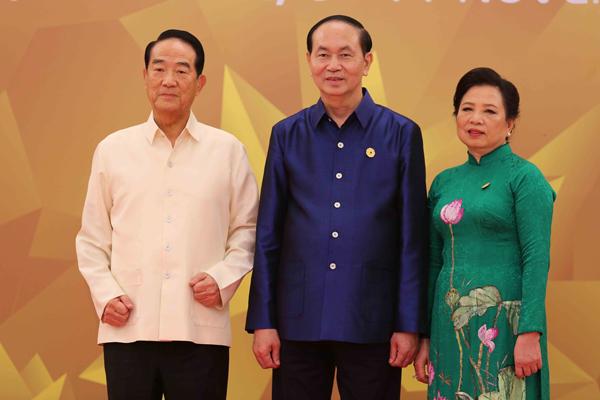 Chủ tịch nước Trần Đại Quang và Phu nhân đón đại diện Đài Bắc, Trung Hoa Tống Sở Du tới dự chiêu đãi