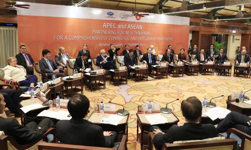 Lãnh đạo các nước thành viên APEC và ASEAN tham gia đối thoại. Ảnh: APEC 2017.