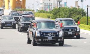 Bốn xe 'Quái thú' phục vụ Tổng thống Mỹ tại Việt Nam