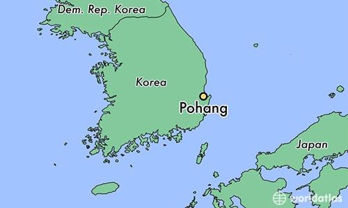 Vị trí thành phố Pohang, Hàn Quốc. Đồ họa: World Atlas.