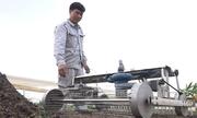 Nông dân chế robot gieo hạt tự động