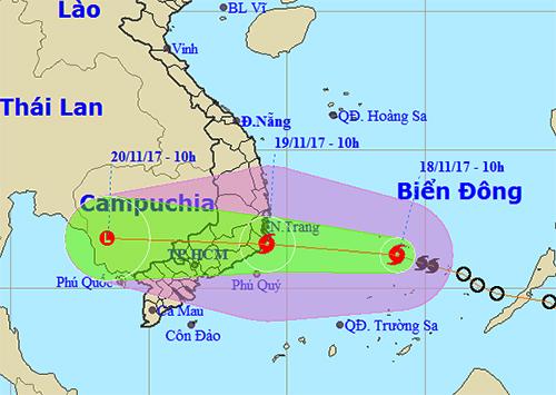 Sáng mai bão Kirogi vào Nam Trung Bộ