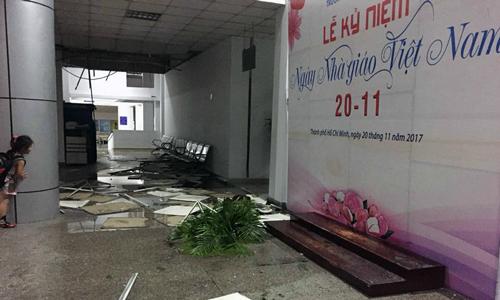 Làng đại học ở Sài Gòn tan hoang sau trận mưa giông