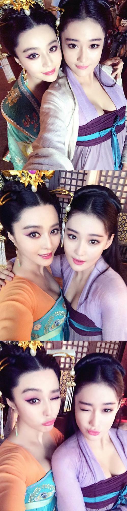 Trương Hinh Dư nhí nhố bên đàn chị Phạm Băng Băng.