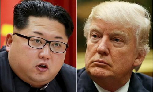 Nhà lãnh đạo Triều Tiên Kim Jong-un (trái) và Tổng thống Mỹ Donald Trump. Ảnh: Reuters/AP.