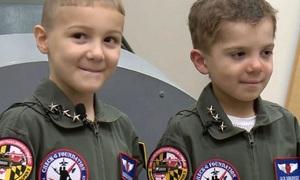 Một ngày tham gia Không quân Mỹ của hai cậu bé ung thư máu