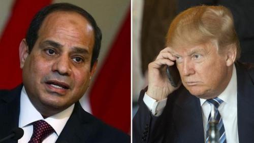 Tổng thống Ai Cập và Mỹ. Ảnh: AP, Reuters.