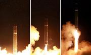 Khoảnh khắc tên lửa Hwasong-15 Triều Tiên rời bệ phóng
