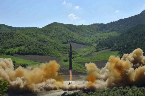 Tên lửa Triều Tiên được phóng hồi tháng 7. Ảnh: KCNA.