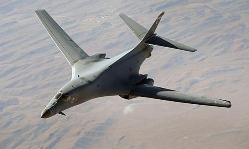 Oanh tạc cơ B-1B của Mỹ. Ảnh: AP.