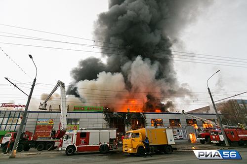 Vụ cháy xảy ra chiều 2/12 tạitrung tâm thương mại Mir, đại lộ Victory, thành phốOrenburg