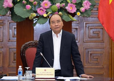 Thủ tướng phát biểu tại buổi làm việc. Ảnh: VGP/Quang Hiếu