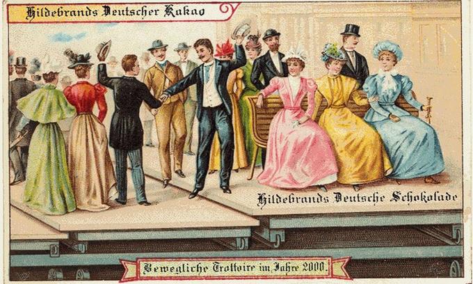 Cuộc sống hiện đại trong tưởng tượng của con người năm 1900