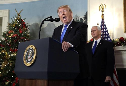 Tổng thống TrumpPhát biểu tại Nhà Trắng ngày 6/12