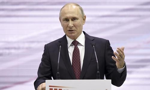 Tổng thống Nga Vladimir Putin phát biểu tại một sự kiện ở Moscow ngày 29/11. Ảnh: Reuters.