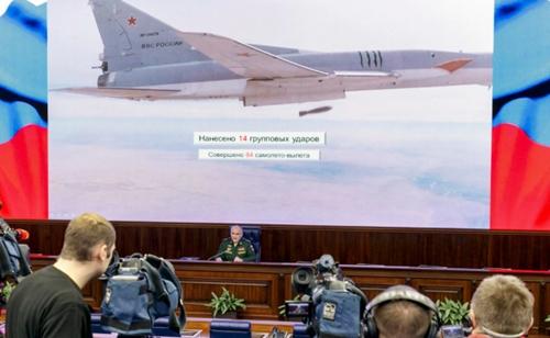 Tướng Sergey Rudskoy, Cục trưởng Cục tác chiến Bộ Tổng tham mưu quân đội Nga trong cuộc họp báo hôm qua.