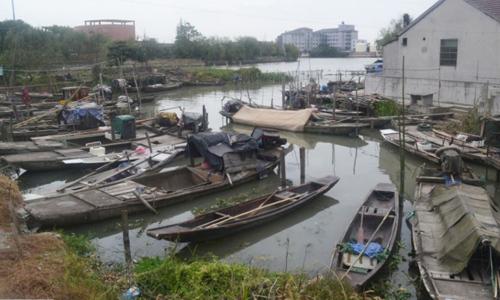 Thuyền đánh cá của người dân ở thị trấn Yucheng, tỉnh Chiết Giang. Ảnh: SCMP.