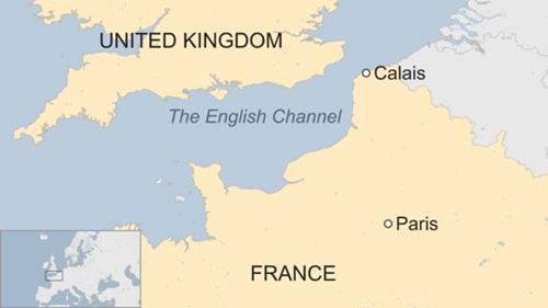 Vị trí Calais, Pháp. Đồ họa: BBC.