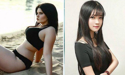Sự khác biệt khó tin giữa ảnh hot girl trên mạng và đời thực