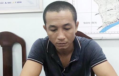 Việt tại công an. Ảnh: Tuấn An