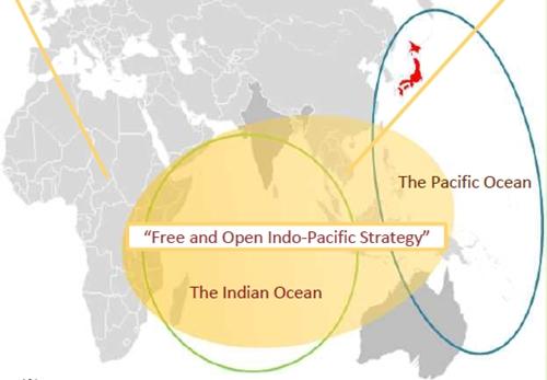 Định nghĩa khu vực Ấn Độ - Thái Bình Dương của Nhật. Đồ họa: Bộ Ngoại giao Nhật.