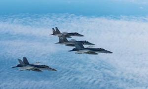 F-15 Nhật tập trận với B-1B Mỹ gần bán đảo Triều Tiên