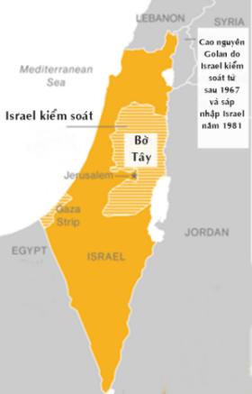 Vị trí dải Gaza. Đồ họa: WashingtonPost.