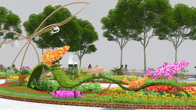 Đường hoa Nguyễn Huệ Tết 2018 được thiết kế thế nào