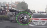 Nữ Ninja chạy SH sang đường ẩu gây tai nạn