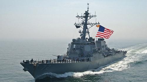 Một tàu khu trục của hải quân Mỹ. Ảnh: Reuters.