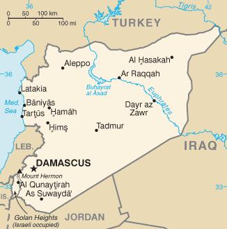 Vị trí sông Euphrates, Syria. Đồ họa: Wikimedia Commons.