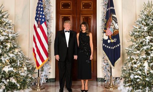 Ảnh Giáng sinh đầu tiên của ông bà Trump tại Nhà Trắng. Ảnh: Nhà Trắng.
