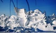 Công trình bằng tuyết dài hơn 100 mét chào mừng Olympic 2018