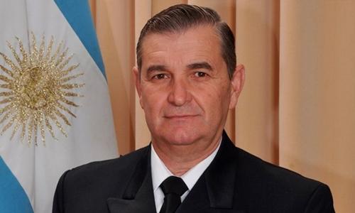 Đô đốc Marcelo Srur, tư lệnh hải quân Argentina. Ảnh: El Cronista.