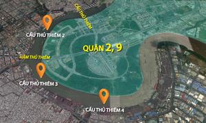 3 cây cầu 'giải cứu' cho hầm vượt sông Sài Gòn