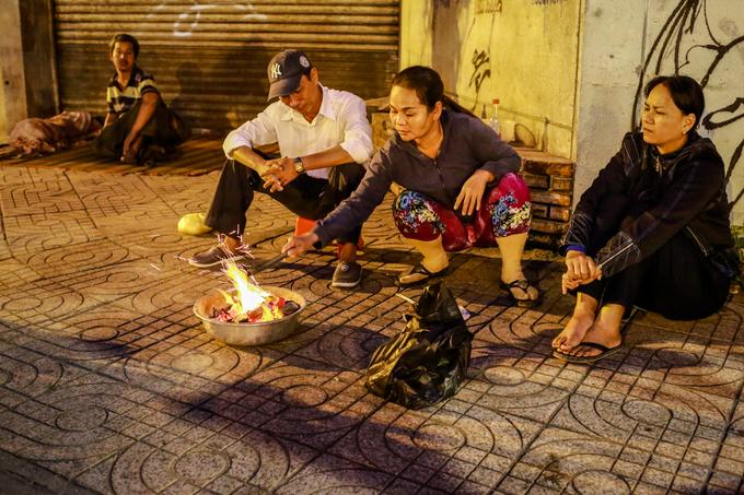 Người Sài Gòn trong cái lạnh nhất từ đầu năm