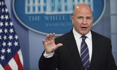 Cố vấn an ninh quốc gia Mỹ H.R McMaster. Ảnh: AFP.