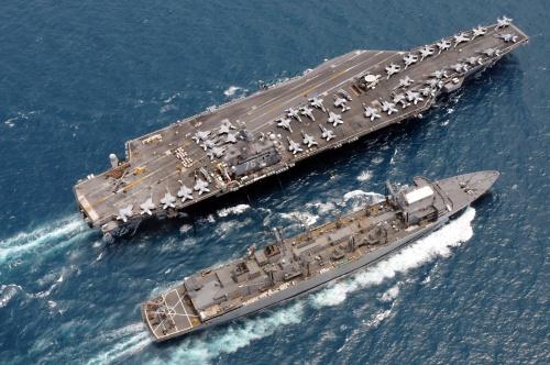 Tàu sân bay USS Ronald Reagan. Ảnh: