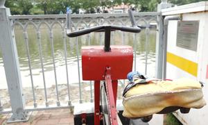 Dàn xe đạp lọc nước ở Sài Gòn hư hỏng sau một năm sử dụng