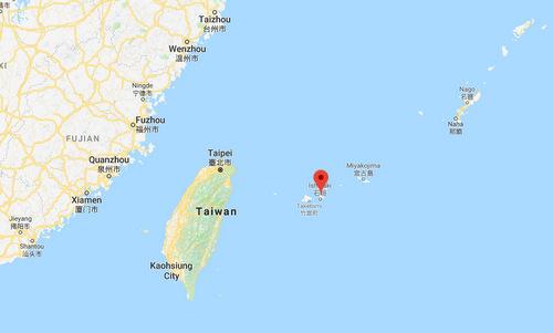 Ishigaki nằm cách không xa đảo Đài Loan và Trung Quốc đại lục. Đồ họa: Google Earth.