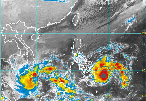 Bão Kai Tak chưa tan, bão mới có thể vào Nam Bộ