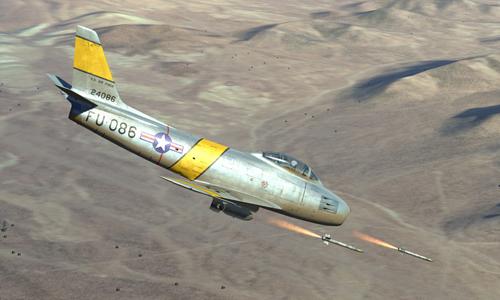 Một tiêm kích F-86D phóng rocket. Ảnh: Aviationist.