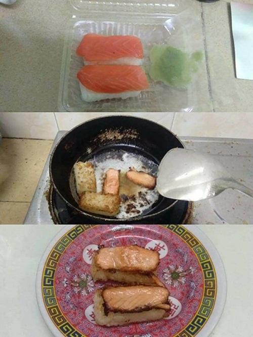 Có thể bạn chưa biết một cách ăn khác của sushi.