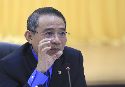 Bí thư Đà Nẵng Trương Quang Nghĩa chủ trì buổi làm việc. Ảnh: Nguyễn Đông.