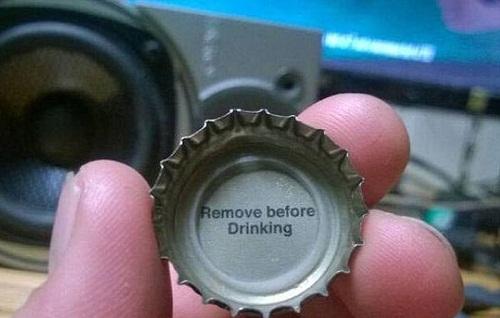 Nhớ lấy nắp trước khi uống nhé!