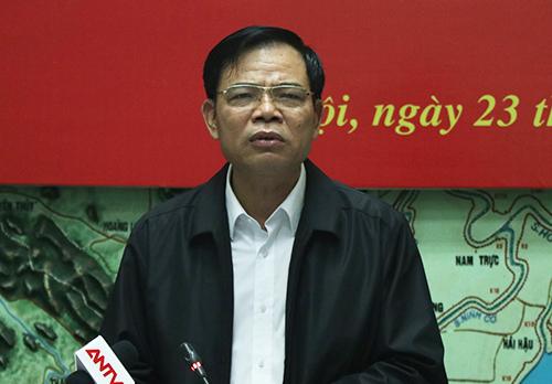Ông Nguyễn Xuân Cường, Bộ trưởng Nông nghiệp và Phát triển nông thôn, Trưởng ban chỉ đạo Trung ương Phòng chống thiên tai. Ảnh: Võ Hải.